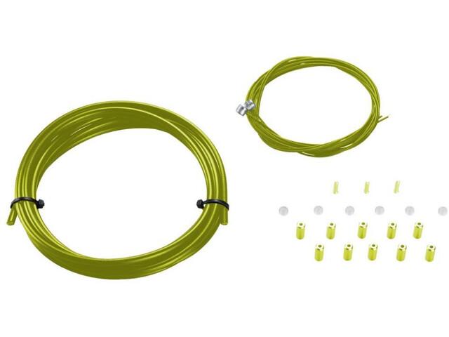 KCNC MTB Kit Carcasa & Cable Freno, verde